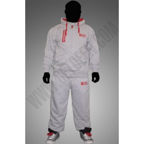 Light Grey and Red  Muslim By Choice  Tracksuit