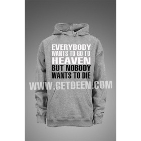 Nobody Wants to Die Hooodie (Black & White )