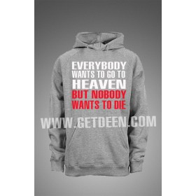 Nobody Wants to Die Hooodie (Red & White )