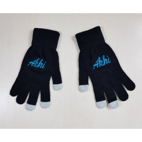 Black And Blue tech touch Akhi Gloves