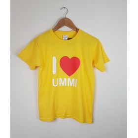 I love ummi kids yellow t shirts